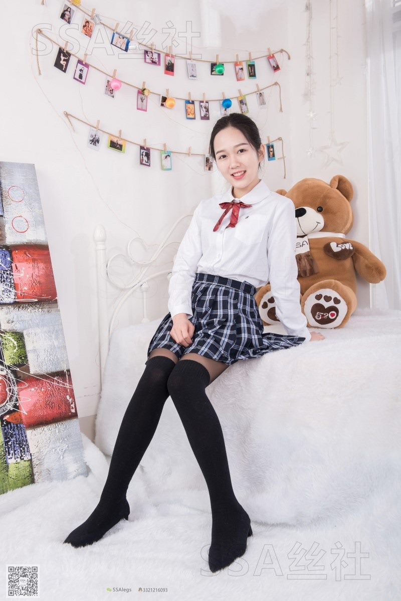 [SSA丝社] NO.073 萱萱前台小姐姐的JK黑丝[99P/112M]
